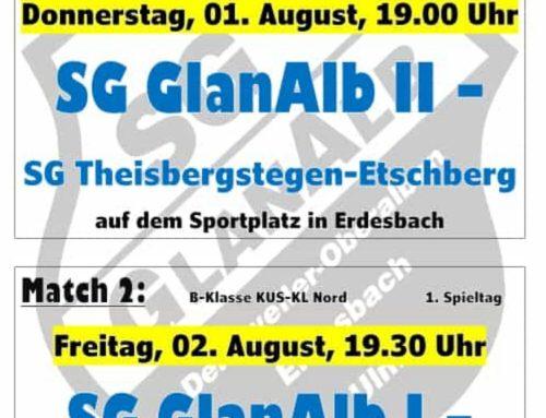 1. Spieltag: SG GlanAlb – Kerwespiele in Erdesbach